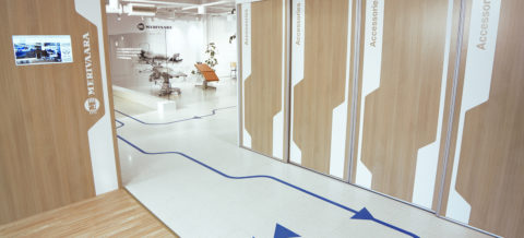 Messua interior design - Merivaara Showroom floor sticker